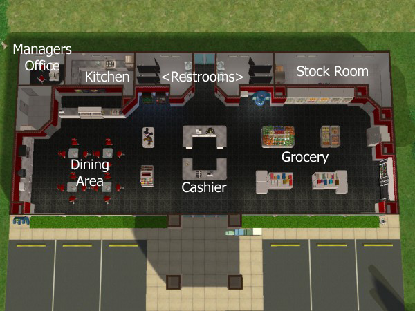 Auto Repair Garage Floor Plans: Sunni Designs For Sims 2