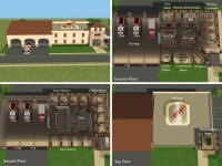 Sunni designs for sims 2 for Fire station floor plans design