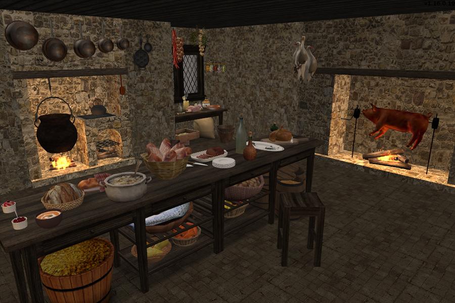 The Medieval Smithy SIMS 2 Kitchen Hearths - Medieval Kitchen Design