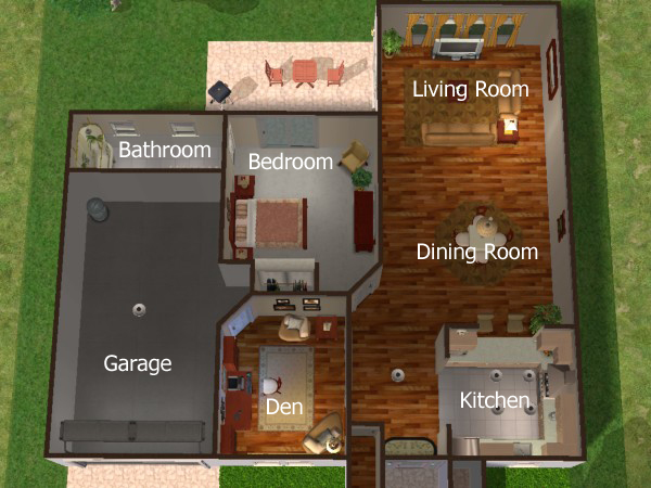 Sunni Designs for Sims Riverbend Estates Condo